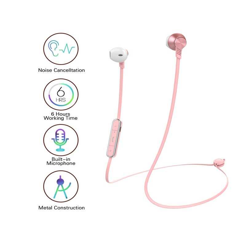 Mijiaer bezprzewodowy/a słuchawki auriculares słuchawki Bluetooth różowy bezprzewodowe słuchawki dla Xiaomi słuchawki auriculares inalambricos