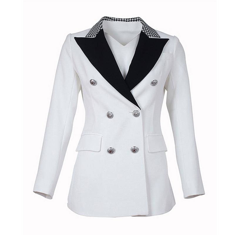 Factory Price High Quality European Women Plus Size Casual Blazers Printing Collar Slim Blazer