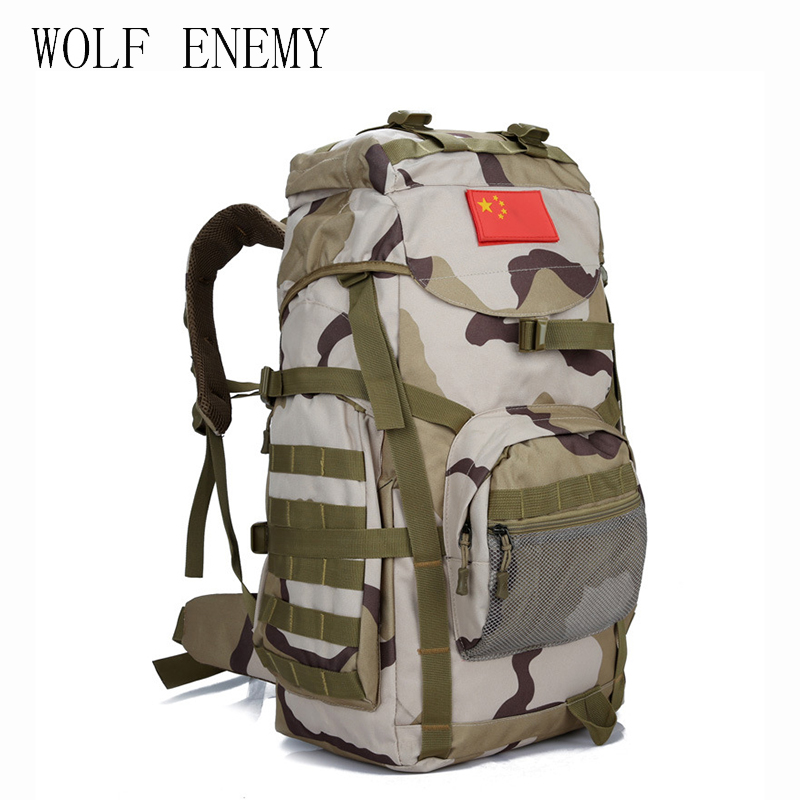 Molle 60L Camping Rucksack Tactical Military Backpack Large Waterproof Backpacks Camouflage Hiking Outdoor Shoulder Bag large camping backpack molle tactical military rucksack outdoor sports bag waterproof hiking hunting backpacks camouflage x242wa
