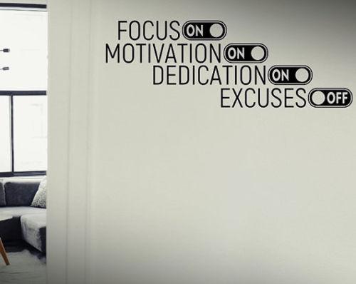 Focus On Motivntion On Dedication On Excuses Off Gym