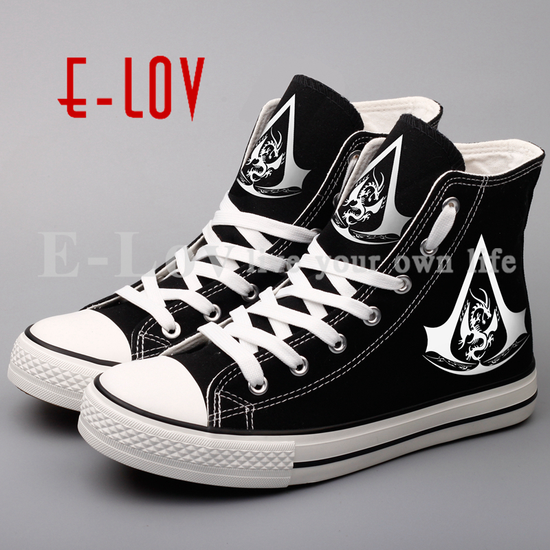 Hiphop Women Girls Canvas Shoes Autumn Spring Unisex Casual Flat Shoe Printed Flats Free Shipping printed assassins creed canvas shoes fashion design hip hop streetwear unisex casual shoes graffiti women flat shoe sapatos