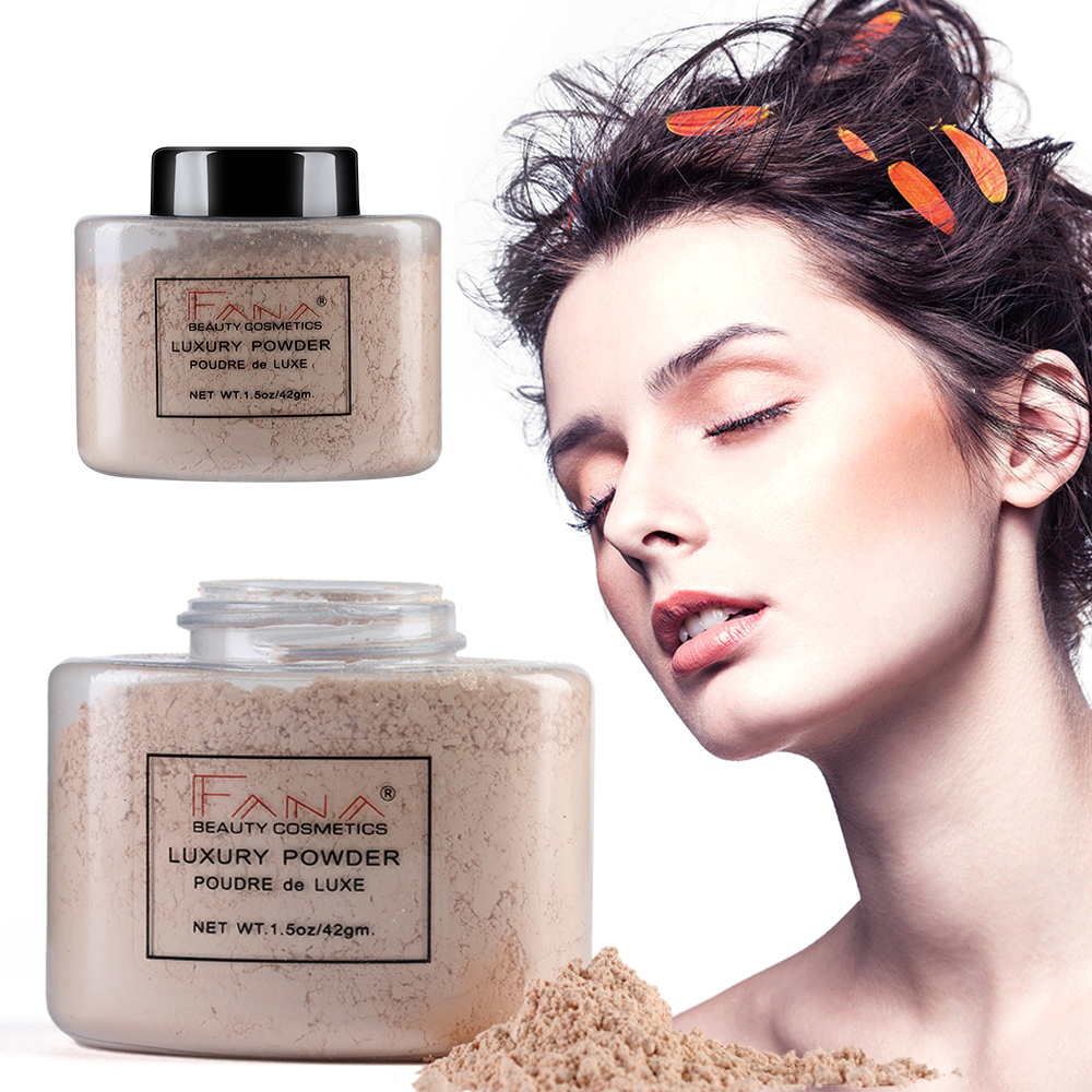 4 Colors Smooth Loose Oil Control Face Powder Makeup Concealer Beauty Highlighter Mineral Powder GEG image