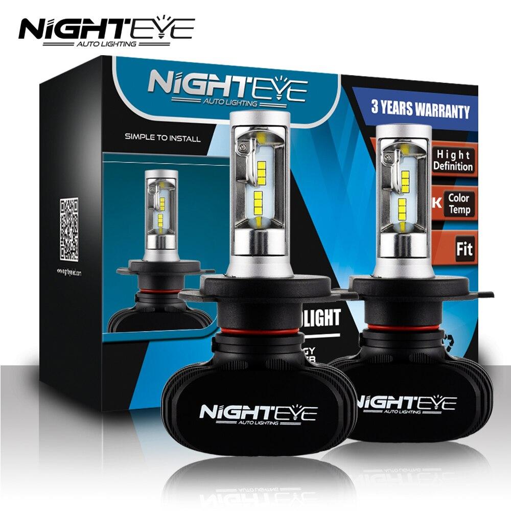 Nighteye 9005 9006 H4 H7 H11 водить авто Фары для автомобиля лампы 8000lm 6500 К 50 w/set csp чипов автомобилей светодиодные фары DRL Противотуманные огни