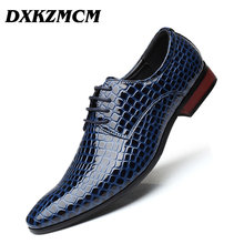 DXKZMCM Handmade Men Dress Shoes Leather Formal Business Men Oxfords Shoes Wedding Party Leather Shoes