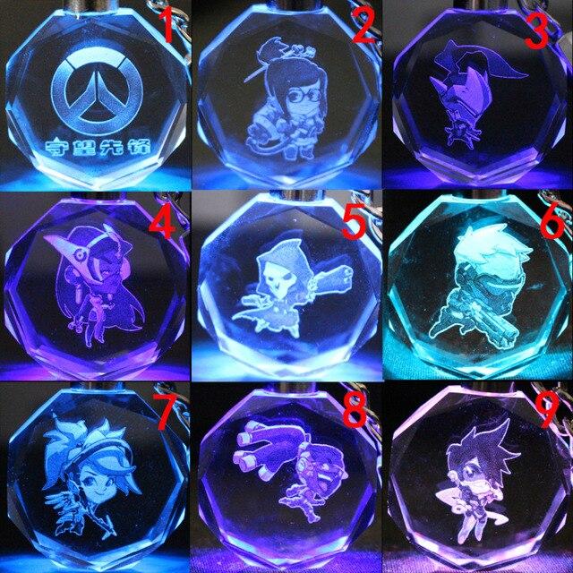 Брелок кристалл светодиодный Овервотч