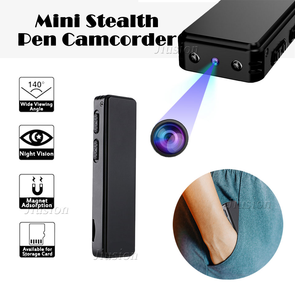 HD 720P Mini Secret Pen Camera Magnetic Video Voice Recorder Active Noise Cancellation Portable Camcorder Night Vision Micro Cam