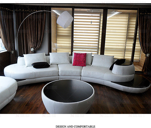 Cow Top Grade Real Leather Sofa Sectional Living Room Sofa
