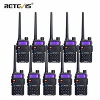 10pcs Retevis RT5R Walkie Talkie 5W 128CH VHF UHF Dual Band VOX FM Radio Portable Ham Radio Amador Hf Tranceiver Communicator