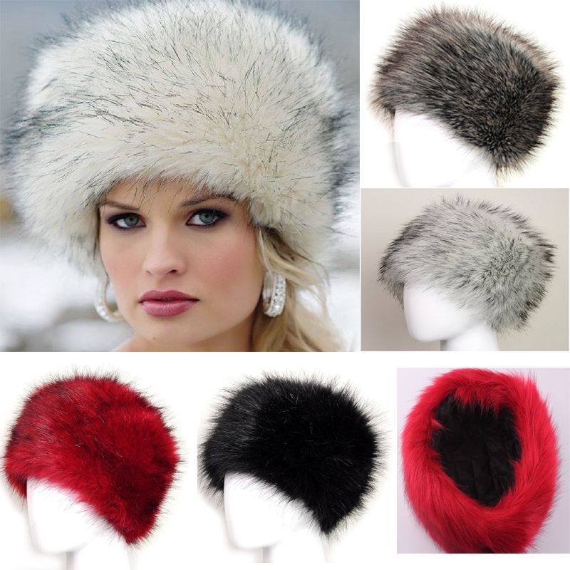 186af80405938 1PC New Winter Warm Women s Faux Fox Fur Hat Russian Style Winter Bomber Cap  Natural Tick Fluffy Hat Fashion -in Skullies   Beanies from Apparel  Accessories ...