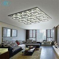 AC100-240V 63*63 cm 108 W LED luces de Techo de Cristal Moderna Grande del hotel villa de lujo sala de estar casera de Luz 9 cuadrados de techo lámpara