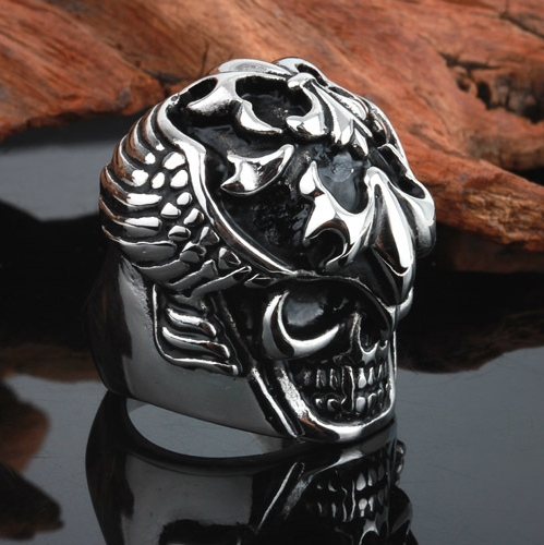 Hardcore Rocker Skeleton Skull Ring Men Ring