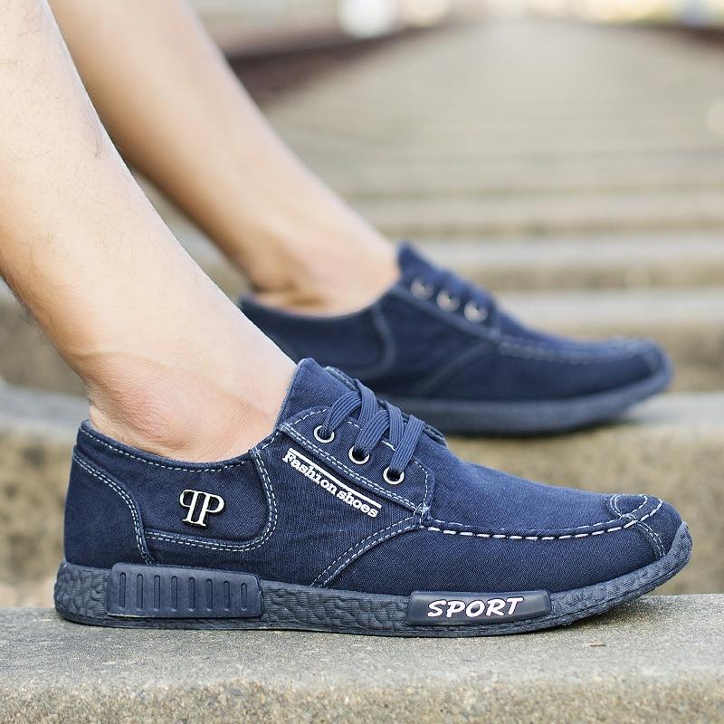 Respirant Sneakers Dentelle Mocassins Mode Blue gray Vulcanisé up Nossica Casual De Nouveau Hommes Chaussures 2018 Style Appartements FvnSzwx6qW