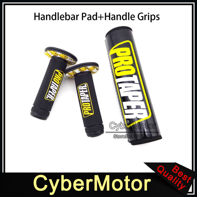 7/8 22mm Throttle Handle Grips Round Cross Bar Pad Cushion For Thumpstar SSR Pro CRF XR 50 TTR Pit Dirt Trail Bike Motocross