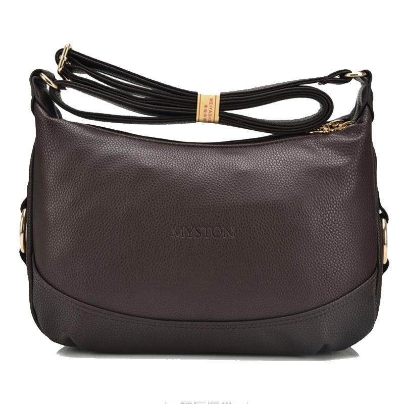 купить High Quality Soft Leather Zipper Women Handbag Women Shoulder Messenger Bags Crossbody Ladies Business Travel Bag Bolsa Feminina недорого