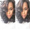 Необработанные девственных человеческого волоса 150 плотность полный человеческих волос челка / фронта парик мода малайзии девы волны парик