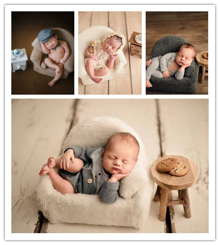 Baby Small Sofa Chair Newborn Photography Prop Shooting  Posing  Studio Infantile Creative Accessories