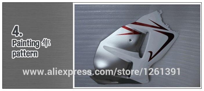 REPSOL серебристый белый Fit инъекций Обтекатели для Honda CBR1000RR 04 05 CBR1000 RR 2004 2005 CBR 1000RR 04 05 обтекателя kitstank