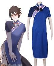 Бесплатная доставка наруто в китае саске шумер cheongsam dress аниме косплей костюм