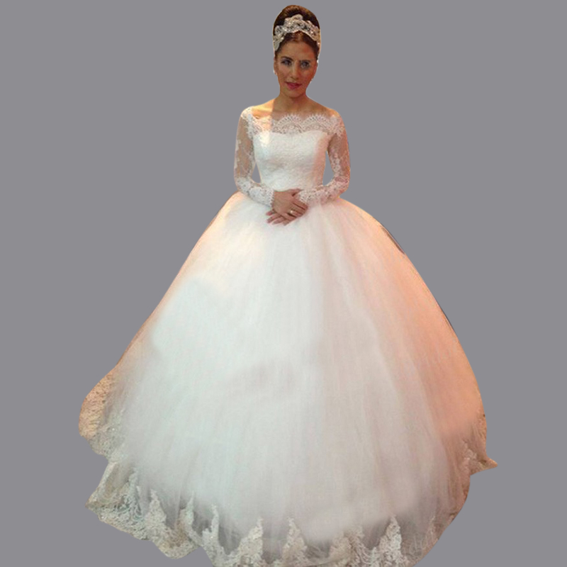 Timeless Wedding Gown: Free Shipping Timeless Puffy Off The Shoulder Sweep Train