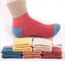 5pair/lot Autumn And Winter Wool women funny Socks Thickening Keep Warm Hair Socks Woman sock hosiery female