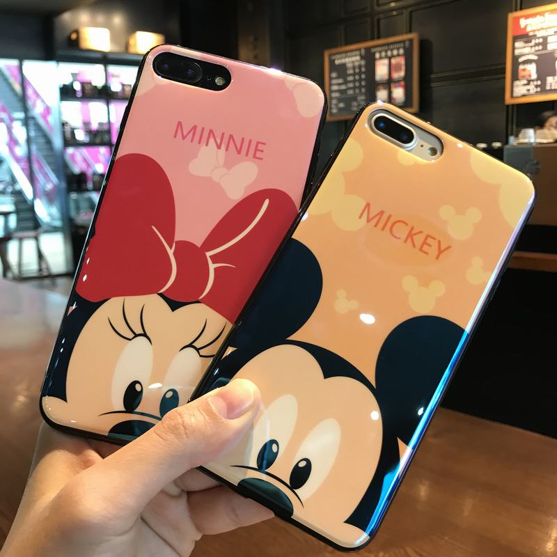 For apple iphone 7 case blue ray ultra thin phone case for iphone x case mickey minnie soft tpu for iphone 6 6s 7 8 plus iphone6