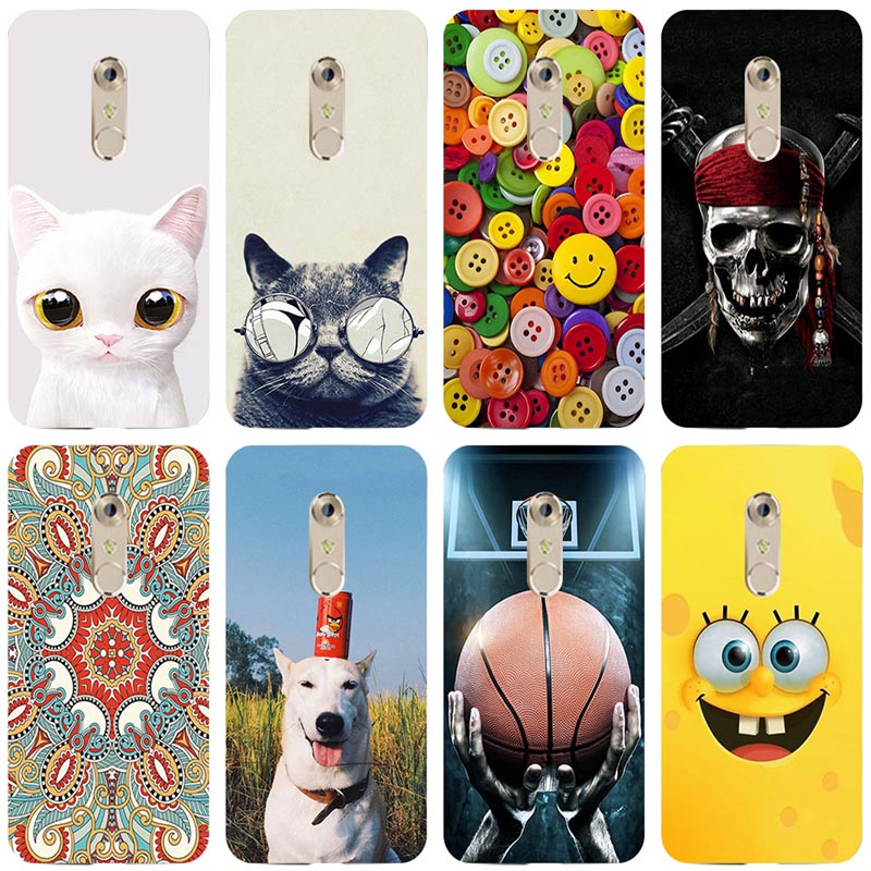 Case For ZTE Axon 7 Soft Silicone TPU Cool Design Pattern Painting Cover for ZTE Axon 7 A2017 <font><b>A2018</b></font> Axon 7S Phone Case image