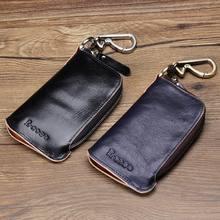 Nagelneue Echte Leder Schlüsseletui Autoschlüssel Brieftasche Luxus Geschenk Für Männer & Frauen Keeper Halter Schlüsseltasche Fall