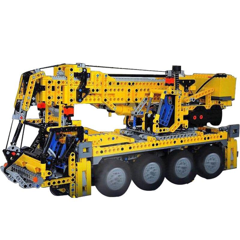 Lepin 20068 LegoINGly 8421 Technic Mechanical Series The Moving Crane Set Children Educational Building Blocks Bricks Toys Model брошь флоренсия самоцветы пластик