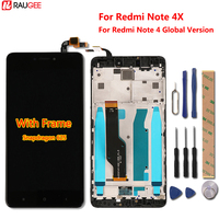 Xiaomi Redmi Note 4X LCD Display+Touch Screen+Frame Digiziter Touch Panel For Xiaomi Redmi Note 4 Global Version Snapdragon 625