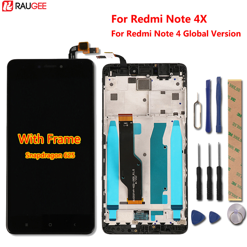 Xiaomi Redmi Note 4X LCD Display+Touch Screen+Frame Digiziter Touch Panel For Xiaomi Redmi Note 4 Global Version Snapdragon 625Xiaomi Redmi Note 4X LCD Display+Touch Screen+Frame Digiziter Touch Panel For Xiaomi Redmi Note 4 Global Version Snapdragon 625