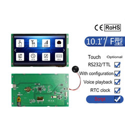 10.1 Inch Serial Screen F Series Touch Screen 1024*600 Configuration / Audio / SD Card