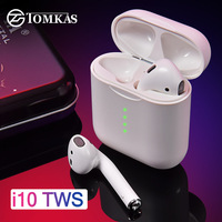 I10 СПЦ Bluetooth наушники Air стручки Беспроводной наушники 5,0 Беспроводной наушники для bluetooth-гарнитуры Touch Управление для всех смартфонов