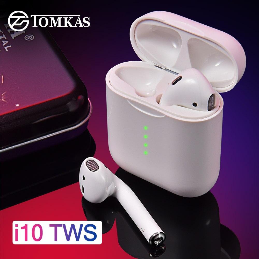 I10 TWS Vagens de Ar Fone De Ouvido Sem Fio Bluetooth Fones De Ouvido Sem Fio Bluetooth 5.0 fone de Ouvido Fones de Ouvido Controle de Toque Para Todos Telefone Inteligente