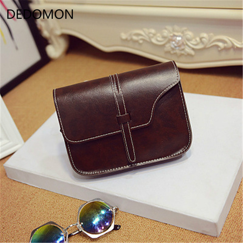 Multicolor Simple Vintage Purse Bag women leather handbags Cross Body Shoulder women messenger bags bolsas mujer female bolsos