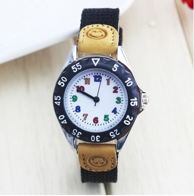 New Supper Light Luminous Quartz Kids Sports Watch Canvas Nylon Strap Military Wristwatch For Boy Students Christmas Gifts