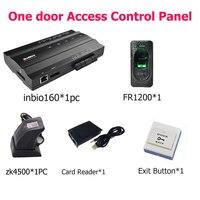 Inbio160 fingerprint & RFID door access control system +FR1200+ZK4500 Reader One Door Access One way access controller|Access Control Keypads|   -