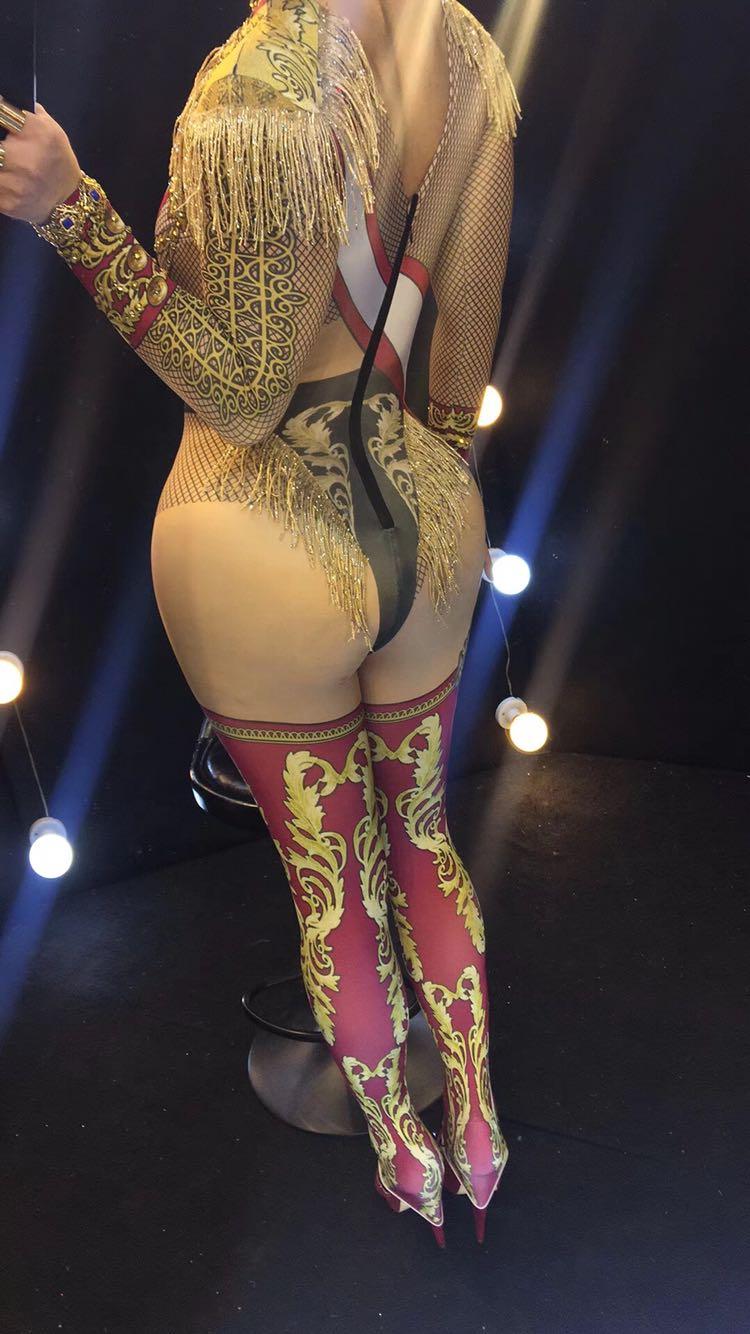 Atmosphérique Glands 2018 Scintillants Performance De Cristaux Sexy Costumes Barboteuses Célébration Club Femelle Salopette Vêtements Bar Scène YRqwrxSq5