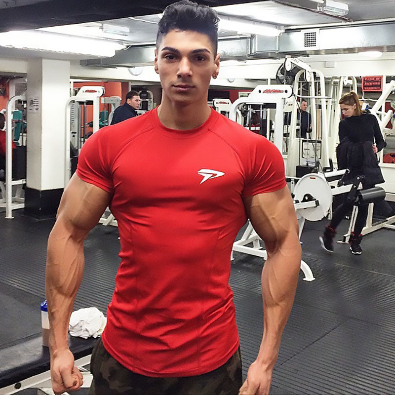 2019 GYM Shirt Sport T Shirt Men Rashgard Quick Dry Fit Running T-Shirt Men Fitness Tshirt Elastic Sportswear Basketball Tshirt 3