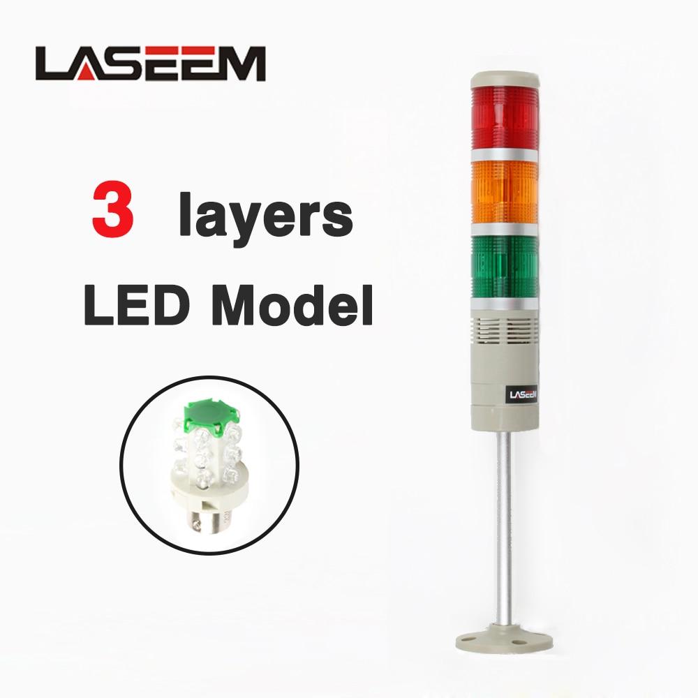 12V 24V 220V 110V Red Green Yellow Industrial Tower Signal Warning Light LTA-502 Indicator Light Steady Light LED