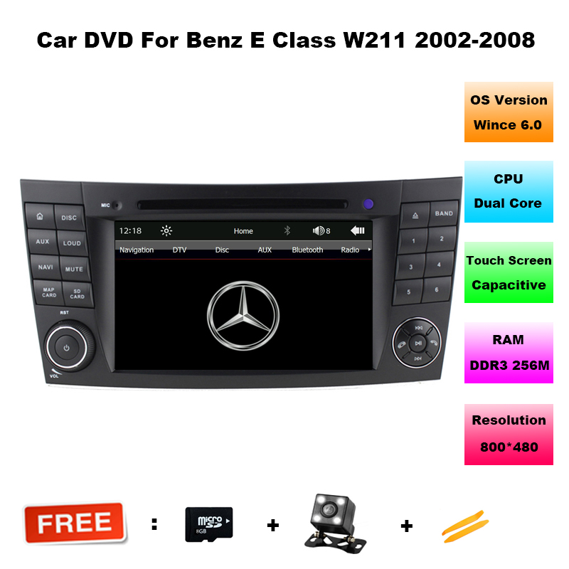 Hot 2 din 7 font b Car b font DVD Player for Mercedes Benz E Class