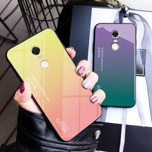 Etui na telefon xiaomi Redmi Note 4X Case Gradient szkło hartowane odporny na wstrząsy miękkiego silikonu rama tylna pokrywa dla Redmi Note 4 case