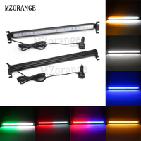 MZORANGE 12V 80 Led Car Led Emergency Strobe Flash Warning Light Police Flashing Lights Red Blue Amber White Car styling