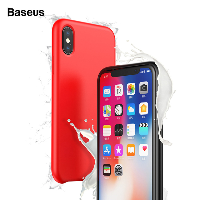 Baseus iPhone XS XS Max XR Luxury Liquid Silicone Back Case Cover