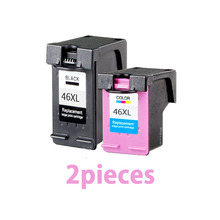 hot deal buy 2pcs for hp 46 xl 46xl ink cartridge for hp deskjet 2020hc 2025hc 2520hc 2029 2529 4729 printers for hp46 ink cartridges printer
