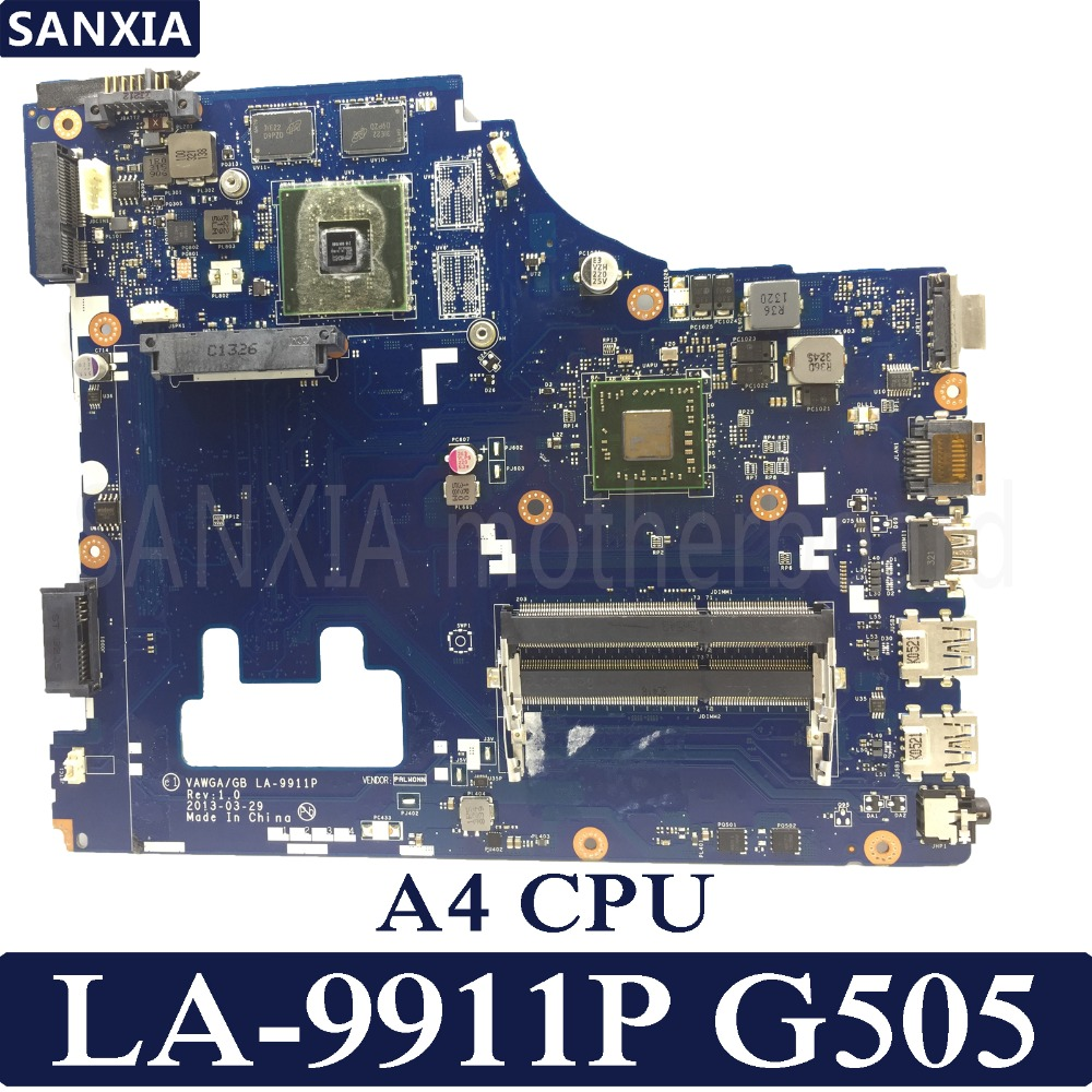 KEFU VAWGA/GB LA-9911P Laptop motherboard for Lenovo G505 Test original mainboard A4 CPUKEFU VAWGA/GB LA-9911P Laptop motherboard for Lenovo G505 Test original mainboard A4 CPU