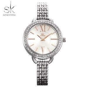 Image 2 - Shengke reloj de cuarzo para mujer, joyería, moda de lujo, japonesas negras, Mov, Rosegold, SK 2019