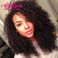 7A Malaysian Virgin Hair With Closure 4 Bundles With Closure Kinky Curly With Closure Alionly  Malaysian Curly Hair With Closure