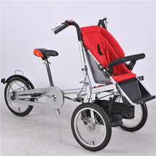 Red Kids Bike Carbon Steel Mother Bicycle Stroller Fashion Baby Bicycle Prams Fortable Car Trolley