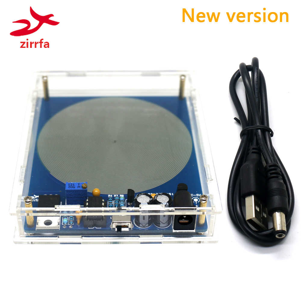 zirrfa DC 5V 7.83HZ Precision Schumann Resonance Ultra-low Frequency Pulse wave Generator Audio Resonator With box finished