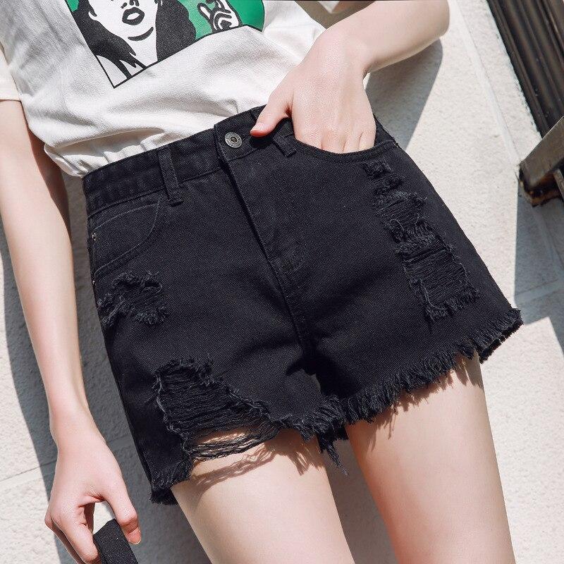 Women summer sexy shorts Euro Style high waist Denim Shorts Jeans mini Short Street Wear korean fashion plus size women clothe
